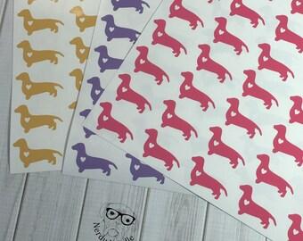 Dachshund Stickers, Dachshund Sticker Set, Dachshund Envelope Seals, Dachshund Envelope Stickers, Dachshund, planner stickers, scrapbooking