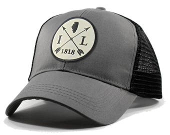 3ca98bc9e01 Homeland Tees Illinois Arrow Hat - Trucker