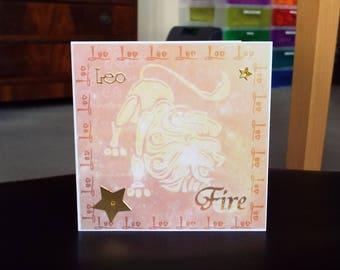 Leo Horoscope Birthday Card - Zodiac/Star Sign -luxury unique quality special astrological UK
