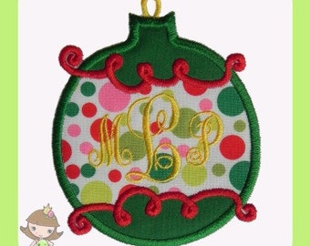 Christmas Ornament  Applique design