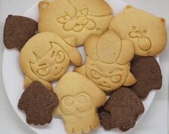 Splatoon Cookie Type 5-point set with bonus Splatoon cookie cutter