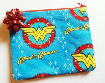 Wonder Woman Justice League DC Comics Makeup Bag