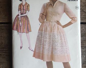Vintage Sew-Easy Advanced Pattern for 2 Misses Dresses - Size 12 Uncut