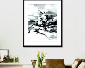 Abstract picture Printable Art  Black and white, Watercolor Black and white, Wall Art Prints, Modern Art Wall Decor, INSTANT DOWNLOAD.