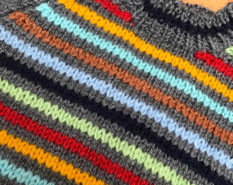 Multicolored stripe jumper