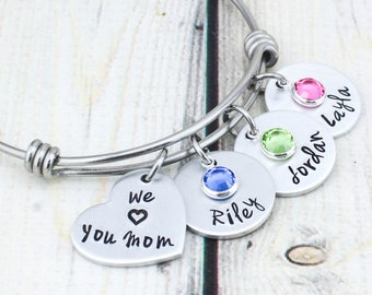 Personalized Bracelet for Women - Custom Bracelet for Mom - Mothers Day Gift for Mom - Birthday Gift - Personalized Jewelry - Mom Gift