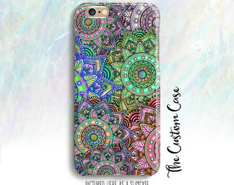 Mandala Madness Case, Mandala Doodle Art Phone Case, Geometric Case, Iphone 4/5/5c/6/6+/6s/7/7+, Galaxy S3/S4/S5/S6/S6 Edge/ edge+