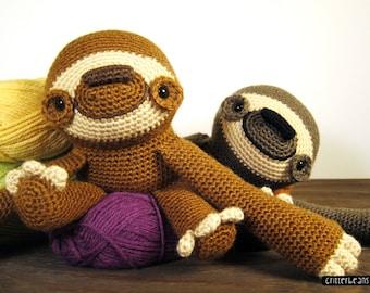 Doobie the Sloth PDF Crochet Amigurumi Pattern