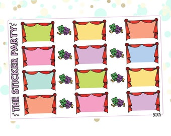 Show & Theatre Planner Stickers