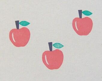 Apple rubber stamp, Apple stamp, fruit stamp, autumn stamp, sumer fruit stamp, autumn fruit stamp, fruits stamps, scrapbooking, cardmaking