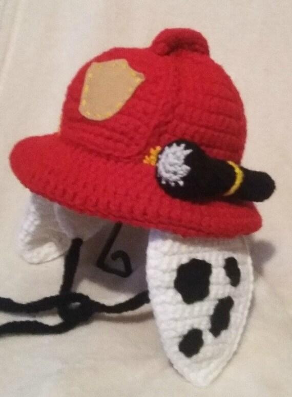 Crochet Pattern Only Paw Patrol Dalmatian Fireman Hat Child