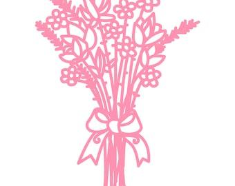 Flower Bouquet Cut File .SVG .DXF .PNG