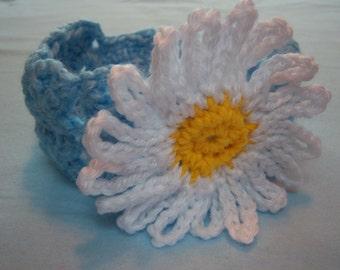 Baby Blue Daisy Headband - Child