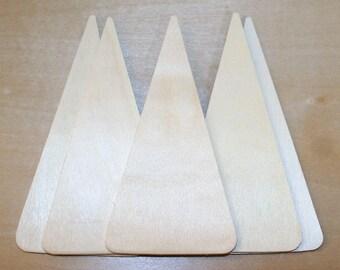 "Christmas Tree - Unfinished Wood Triangle Cutout 5"" x 2-5/8"" x 1/8"""