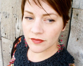 Crochet Collar Necklace - Small - Custom Color