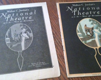 National Theatre Playbills 1920's