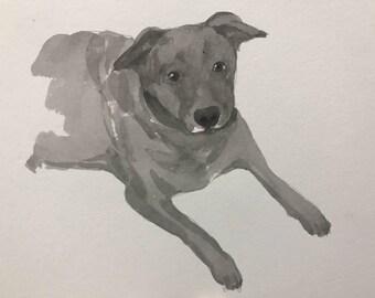 Custom Portrait Drawing, Custom Portrait Drawing From Your Photo, Unique Portrait Drawing, Custom Pet Portrait Drawing Dog, Cat, Animal