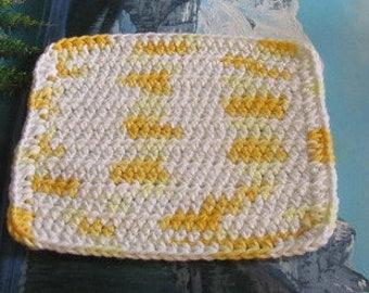 Hand crochet cotton dish cloth 7.5 by 7.5 cdc 147