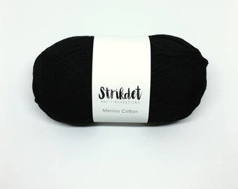 STRIKDET Merino Cotton Black - Sort