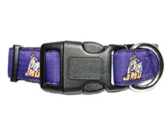 James Madison JMU Dog Collar