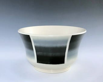Ceramic Soup Bowl, Pottery Cereal Bowl, Black White Bowl, Porcelain Bowl, Ceramic Candy Dish, Wheel Thrown Pottery Bowl, Ceramic Salsa Bowl
