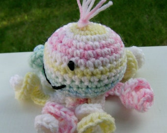 MariBeth, a Crocheted Amigurumi Octopus Stuffed Toy ready to ship
