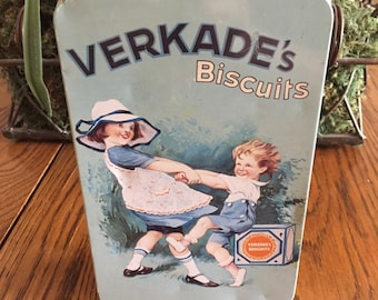 Vintage Verkade's Biscuits Tin- Zaandam- Holland