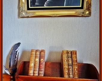 Vintage Book Shelf, Oak Book Trough, Oak Book Stand, Period Oak Furniture, Book Holder, Vintage Book Stand