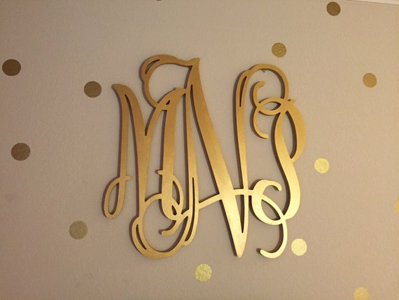 Gold Wooden Monogram Wall Hanging Letters Monogram Door