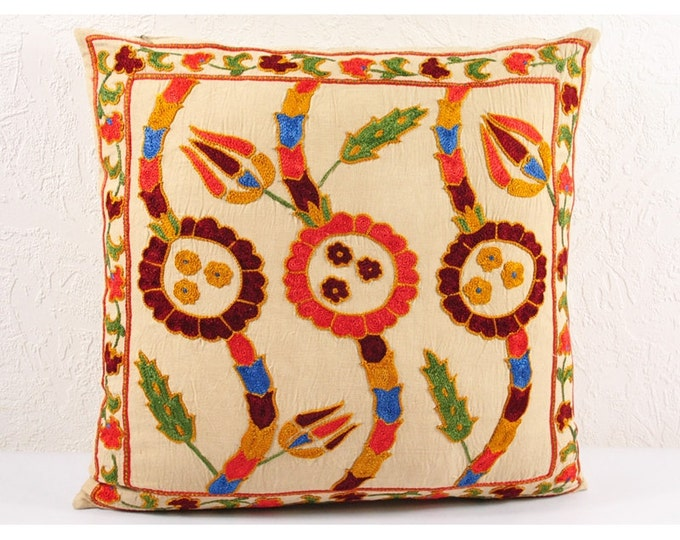 Handmade Suzani Pillow Cover USP102, Suzani Pillow, Suzani Throw, Suzani, Decorative pillows, Accent pillows