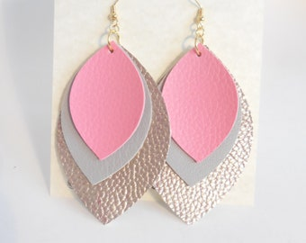 Faux Leather Boho Earrings