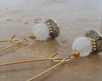 Dainty Chic Rose Quartz Drop Earrings