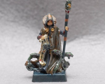 A sorcerer of darkness and death. Tin figurine with author's painting