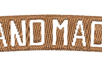 Hand Made Label Embroidery Design Instant Download