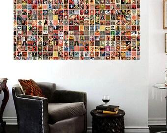 Shephard Fairey Street Art Collage Canvas print Shepard Fairey OBEY 36 x 24