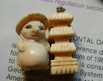 Vintage bone charms