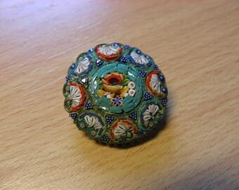 Micromosaic brooch, millefiori