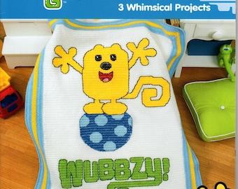 WOW WOW Wubbzy -Crochet Childrens Afghan Pattern-Crochet blanket-Disney afghan :C091/PDF-Instant Download