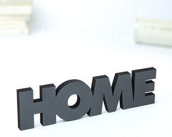 HOME - wood lettering