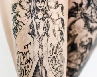 Tearful Emily Temporary Tattoo