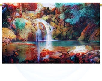 Electric feel #4  Large Wall Art print Abstract decor Waterfall landscape wall art