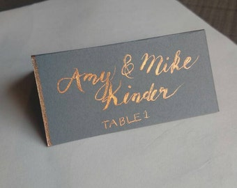 Reception Place Cards (hand-lettered & calligraphy)