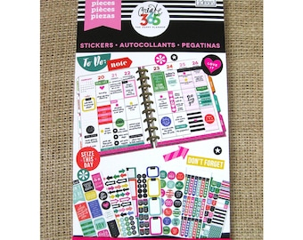 Everyday Plans Create 365 Happy Planner Sticker Value Pack (1486 stickers/Pkg) Me & My Big Ideas (PPSV-02)