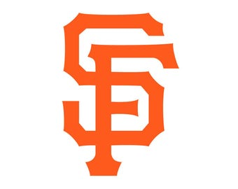 "Set of (2) San Francisco Giants 'SF' Die-Cut Vinyl Decal Sticker 3"" Tall"