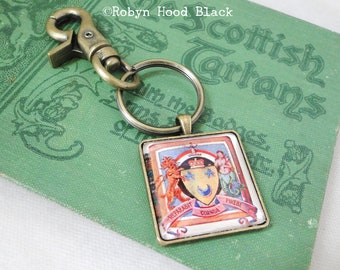 Vintage Scottish Coat of Arms  Keychain Bag Tag Key Chain - Scott