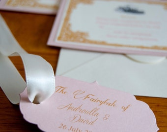 Fairytale Wedding Invitation with Tag