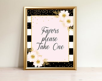 Favors Sign, Favors please take, Favors take one,  Please take favors, Printable Sign, Baby shower decor, BP-01