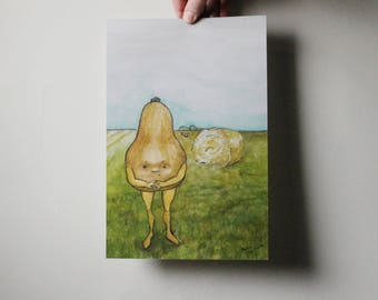 Butternut Squash in the Field Print