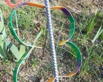 Handmade metal freestanding garden butterfly