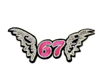 Wings Iron on Patch, Silver Wings Patch, Flying Wings Patch, Angel Wings Patch
